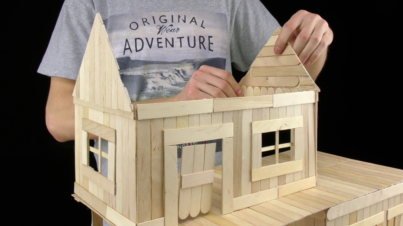 Awesome How To Make Popsicle Stick House   Yutorial | Watch, Share And Learn |  Video Tutorials